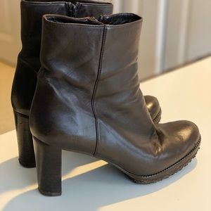 Stuart Weitzman Brown Leather Boots, Size 8
